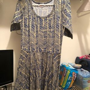 Lularoe Dress 3/4 sleeves